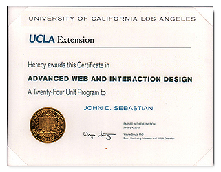 Advanced Web and Interactive Design Certificate from UCLA Extension