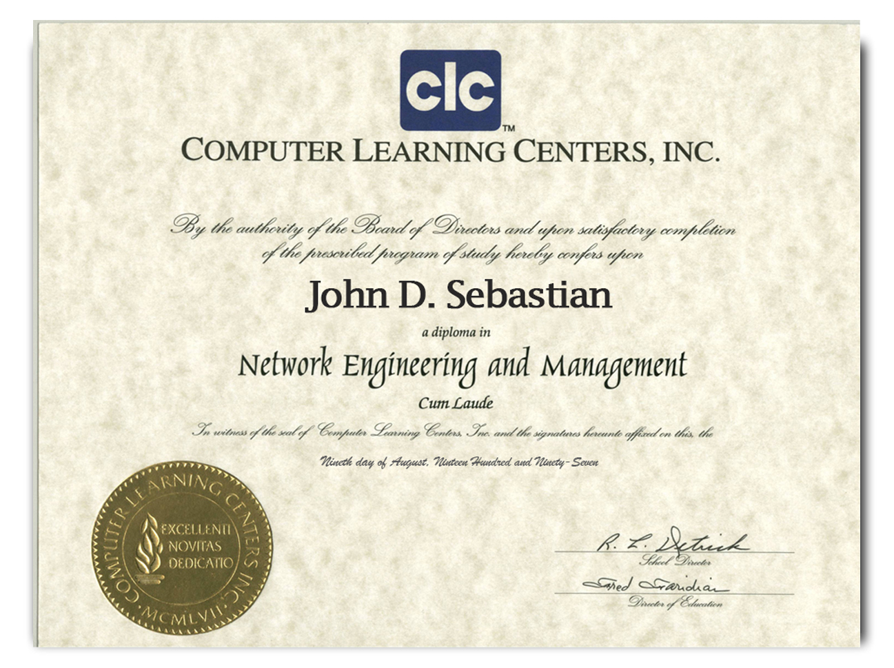 JDS Network Engineering Graduate of Los Angeles Computer Learning Center